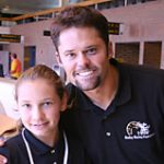 Krysta Carr poses with Justin Osmond, of the famous singing clan.